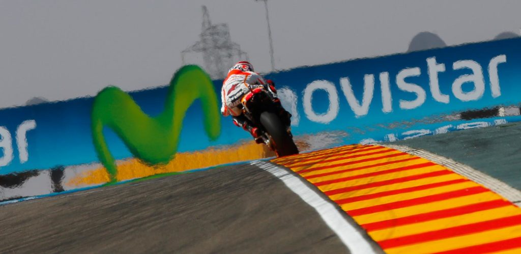 "Marc Marquez - 2nd - 1'48.328 - ""This is one of my favourite tracks on the World Championship calendar, our first day went well and I enjoyed riding in front of the home fans! I felt good on the bike and had a good pace, which is what we were focusing on the most today. The track was quite slippery but I like it like this! However, tomorrow we will try to define which tyres to use and refine the setup, then see if we can get onto the front row for Sunday and have a great race."""