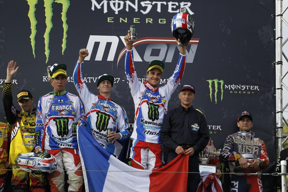 The bottom line is this; Team France absolutely blitzed the field with all three of their riders performing sensationally. They were led by Gautier Paulin who won both of his motos while their MX2 rider Dyland Ferrandis went 9-9 with their Open rider Steven Frossard exceeding expectation with 2-4 finishes.