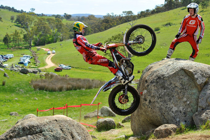 Gas Gas pilot Kyle Middleton overcame injury to win the Open Solo title ahead of Tim Coleman, Colin Zarczynski and Chris Bayles at the Australian Moto Trials Championships held in Tasmania.