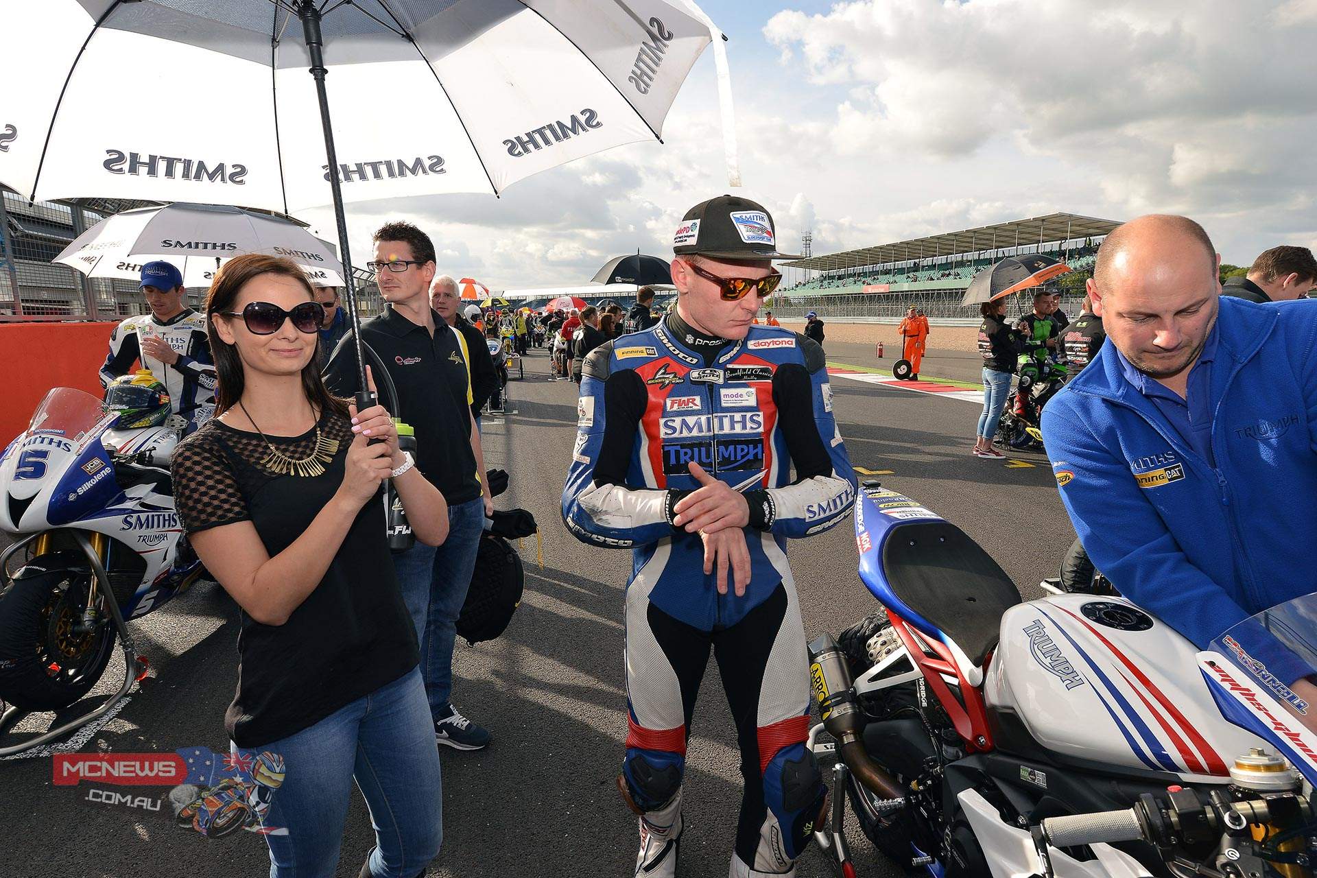 Billy McConnell on the grid at Silverstone