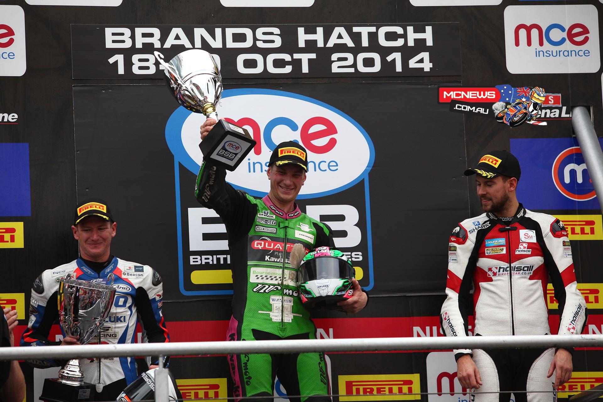 Brands Hatch Superbike Race One Podium