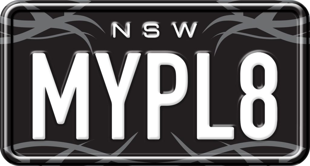 Grey Thorns - Custom NSW Motorcycle Number Plates
