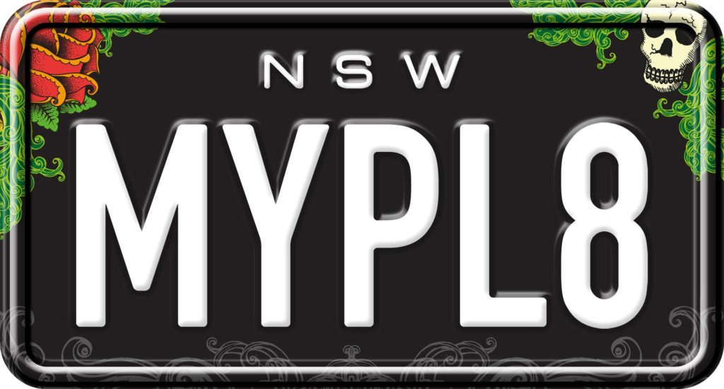 Ink'd - Custom NSW Motorcycle Number Plates