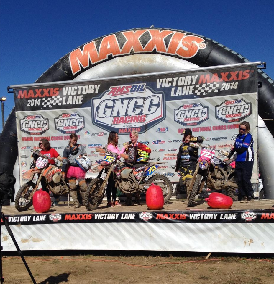"Tayla Jones: ""The GNCCs are awesome fun and I can't wait to do more. They had the right amount of rain here in Indiana to make the dirt really good so ninety percent of the track today was perfect. We had to go through a creek a fair few times which made things muddy. The hardest part was trying to overtake the lapped riders. In the race there was over 800 people and we started lapping at the start of the second lap so it got pretty hectic. Every time you got to a mud hole or hill there was like 20 to 30 people in a massive bottle neck trying to get through so that was the hardest part. Winning today capped off my USA trip on a high which has given me confidence going into the six-day. I've had a great year and hopefully I can finish it on a high in Argentina. """