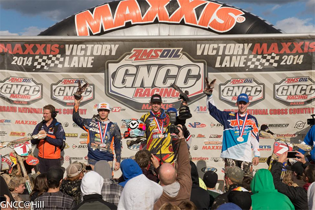 Josh Strang has overcome a 15 second penalty for an infringement on the start line to earn his first Grand National Cross Country (GNCC) round win of the 2014 season and he did it at the 12th round of the GNCC held at Powerline Park in Ohio last Sunday.