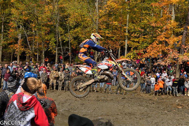 Strang took the win over newly-crowned champion Kailub Russell who was riding a KTM150SX two-stroke at the event