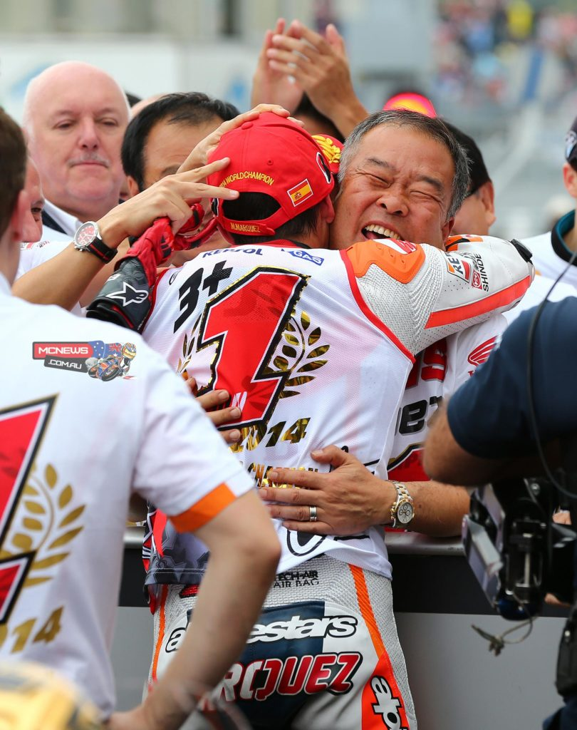 The 10 successive wins by Marc Marquez in 2014 is a new record for most successive wins in the MotoGP class.