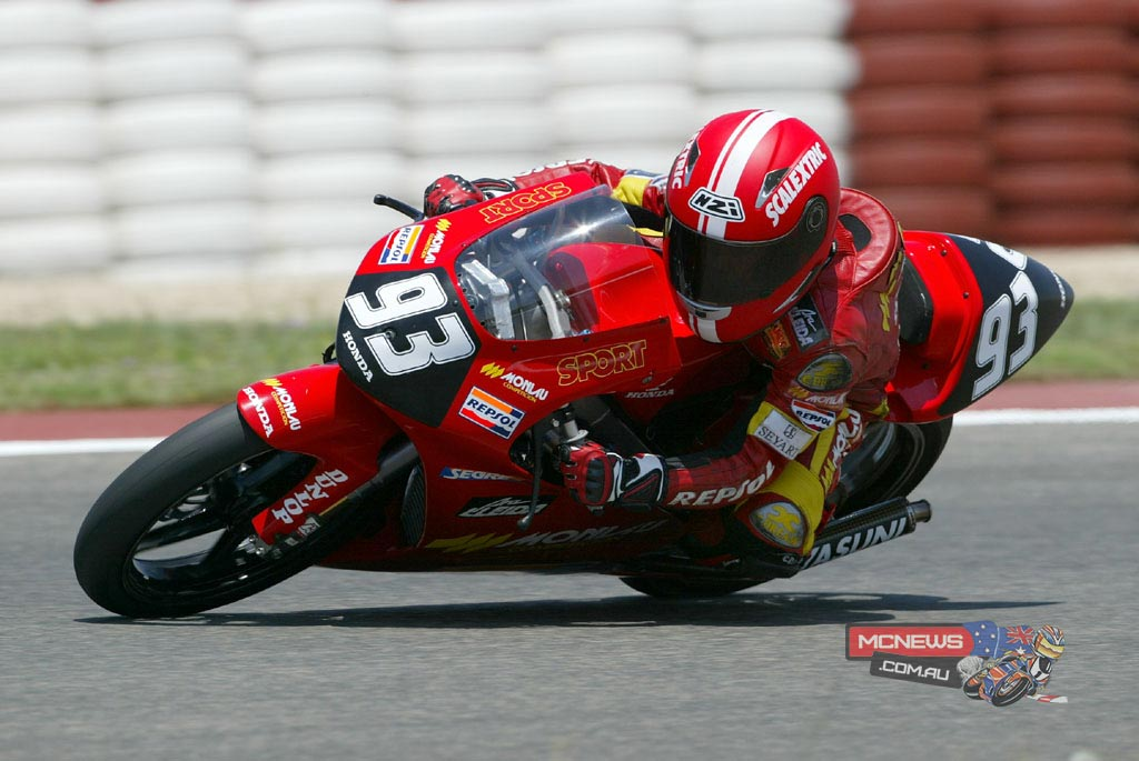 In 2002 Marc Marquez started to focus on road racing. With the same team he changed to the big circuits by taking part in the Open RACC 50, a six-race Catalan Championship held in Montmeló (2), Calafat (3) and Can Padró (1). His first year was expected to be one of adaptation and learning, but Marc won the Championship with an overwhelming performance, sometimes finishing races with an advantage of 20 seconds over his rivals.