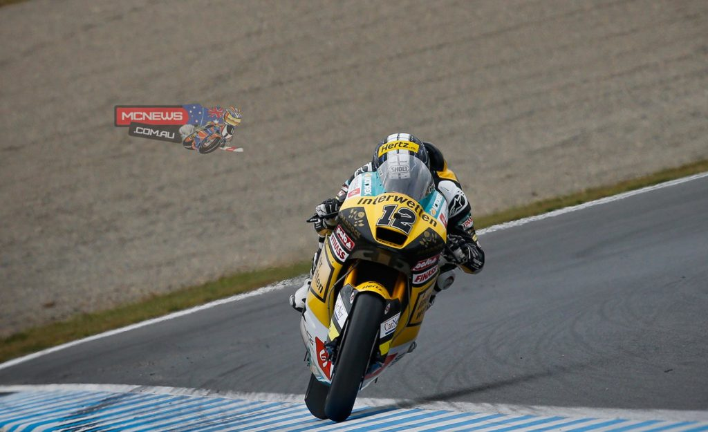 Thomas Luthi rode superbly from second on the grid, getting into the lead on the first lap and managing the gap throughout the race for his first victory since 2012 and his second podium this year.