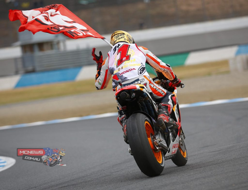 """Marc Marquez, Repsol Honda: 2nd - """"I am very happy to have sealed this second consecutive World Championship, because although it is difficult to maintain this level, in the end we succeeded! Today is the time to enjoy this title. In the race I had a very clear objective, which was to finish ahead of Valentino and Dani – the other riders did not matter to me so much today. I just had one goal in mind and the important thing is that I was able to achieve it. I want to dedicate this title to all the people who have helped me - they know who they are – and especially to my family and the team, who are the foundation for all of this."""""""