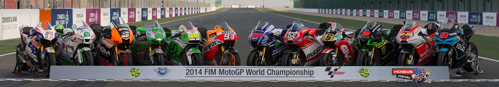MotoGP Machinery line-up 2014