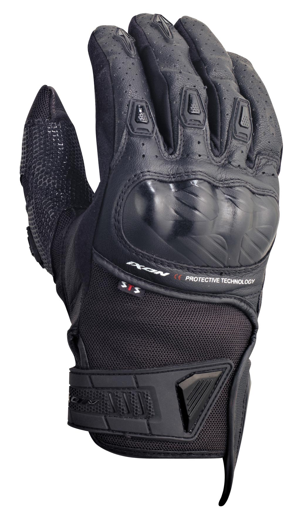 Ixon RS Burn Hp Gloves - These gloves don't sacrifice comfort for safety either, with the added knuckle protectors on the backhand of the glove giving extra protection
