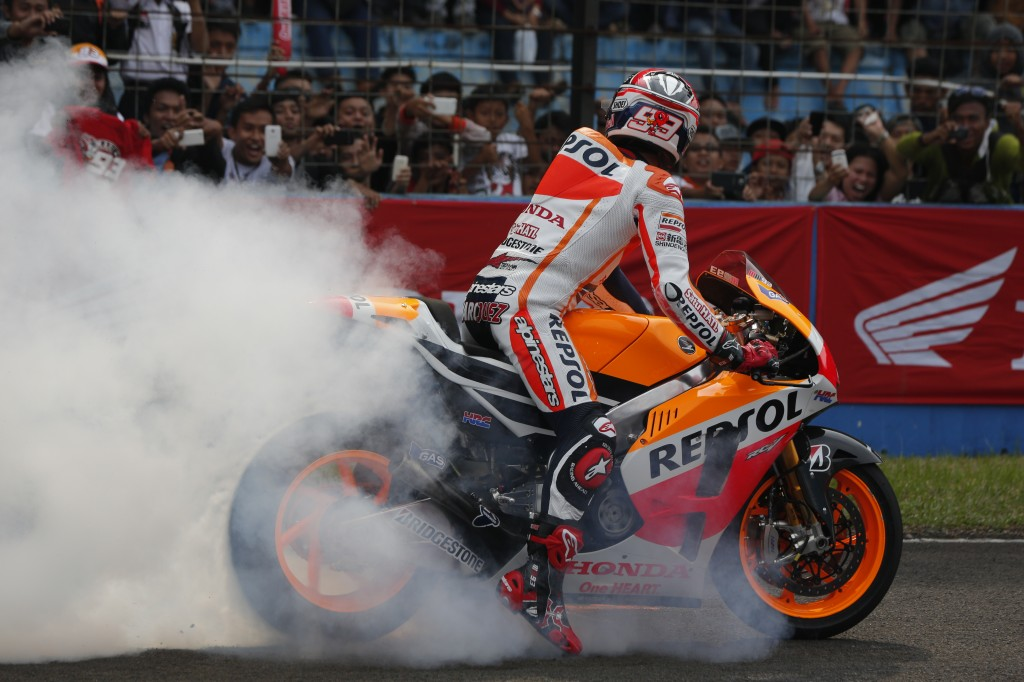 Marquez and Pedrosa ride MotoGP machine in Indonesia for first time
