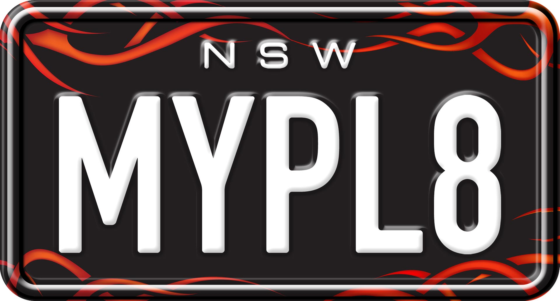 Tribal Sun - Custom NSW Motorcycle Number Plates