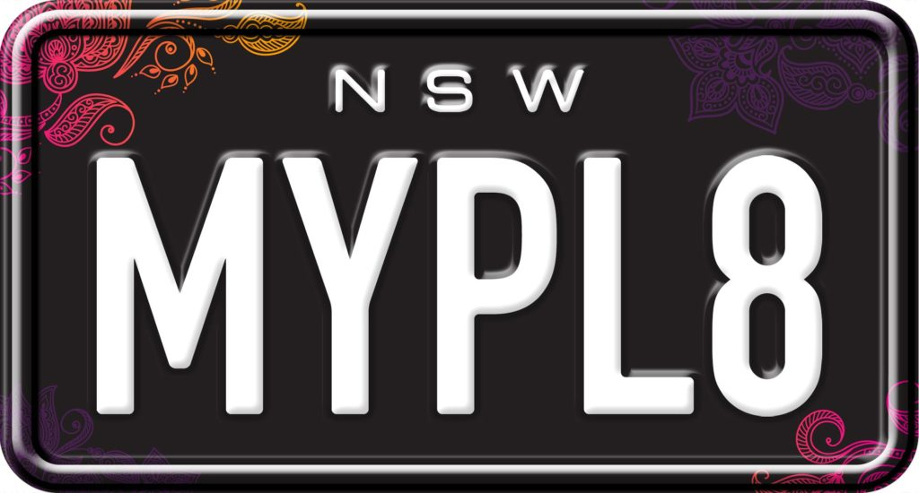 Twisted Paisley - Custom NSW Motorcycle Number Plates