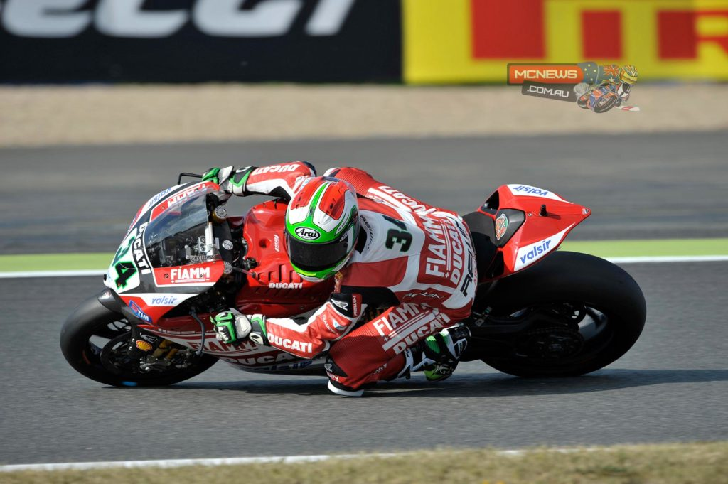 The afternoon session at Magny-Cours finished with Italian Davide Giugliano (Ducati Superbike Team) setting the fastest time in 1'37.866s, to head the combined classification after FP1 and FP2.