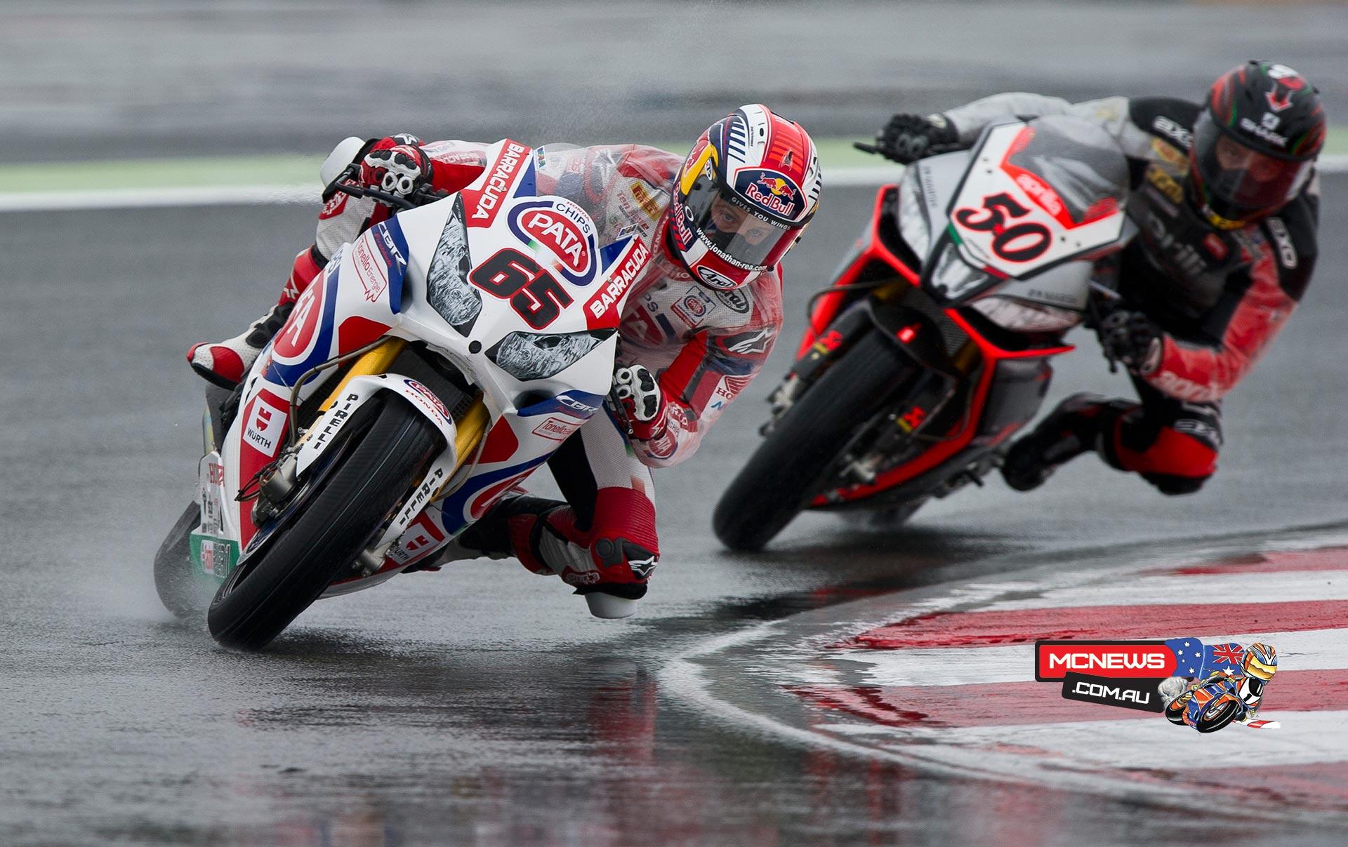 World Superbike Magny-Cours 2014 Jonathan Rea and Sylvain Guintoli