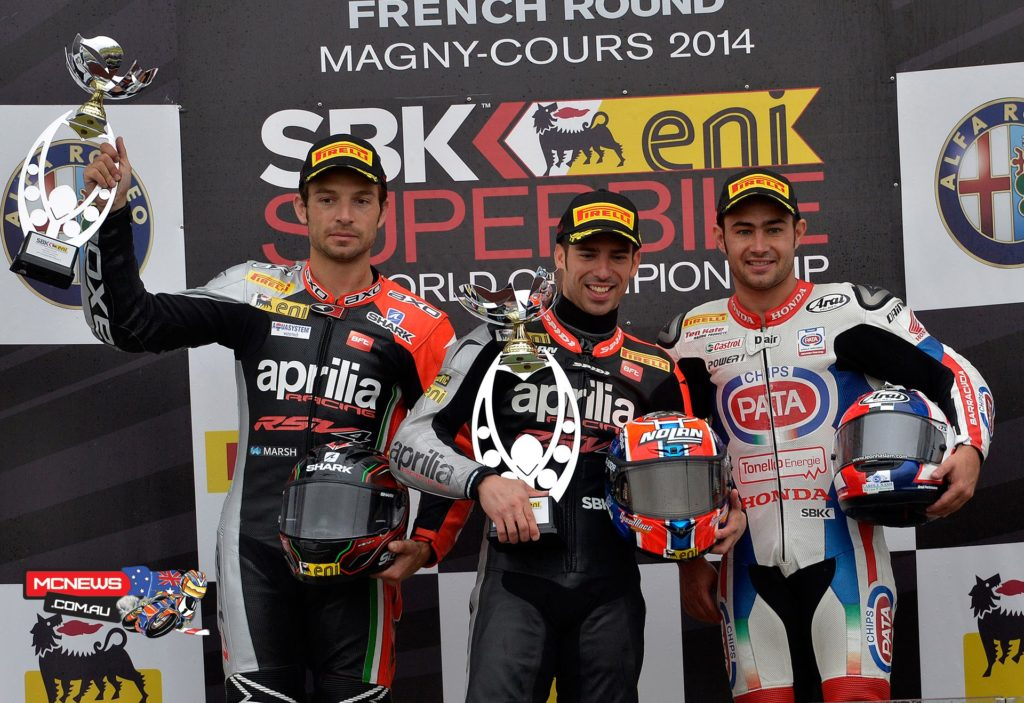 World Superbike Magny-Cours Race Two Podium