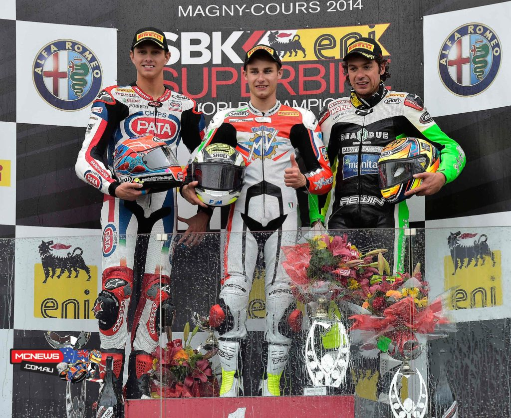 World Supersport Podium Magny-Cours 2014