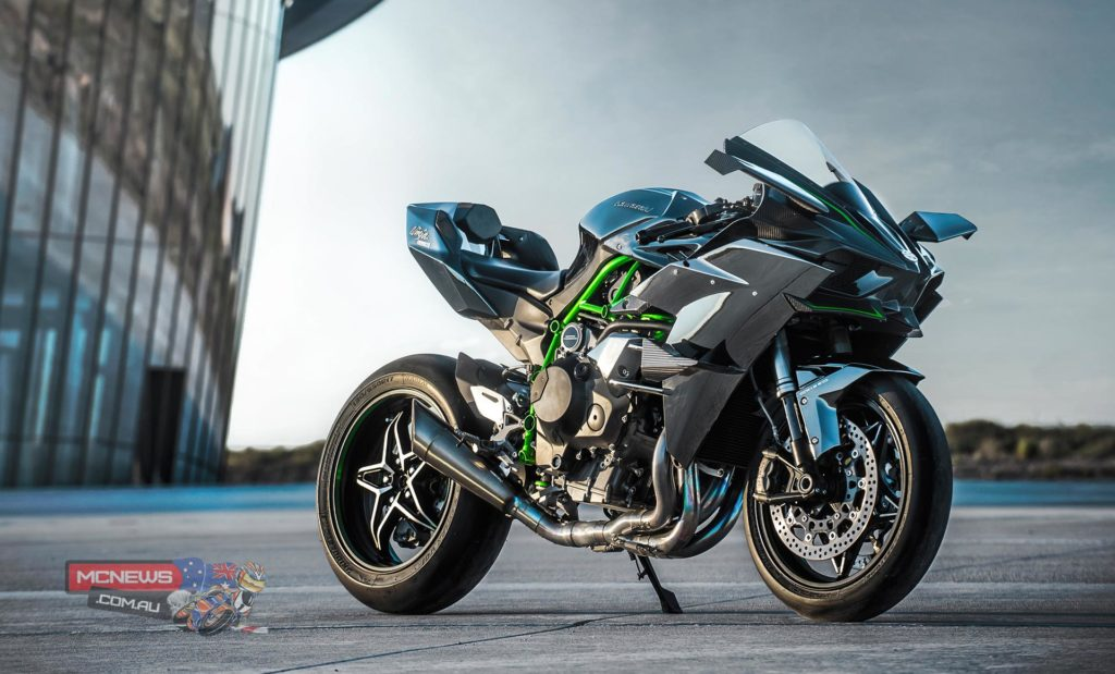 Kawasaki's new super-charged Ninja H2R will be ridden for exhibition by James Hillier