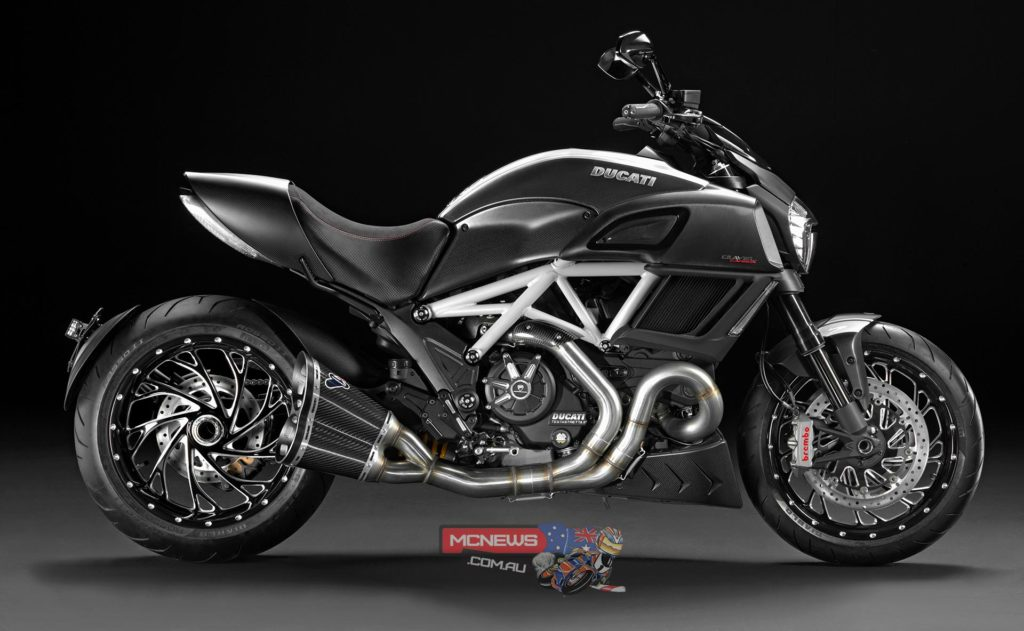 Ducati Diavel Carbon with Ducati Performance Accessories