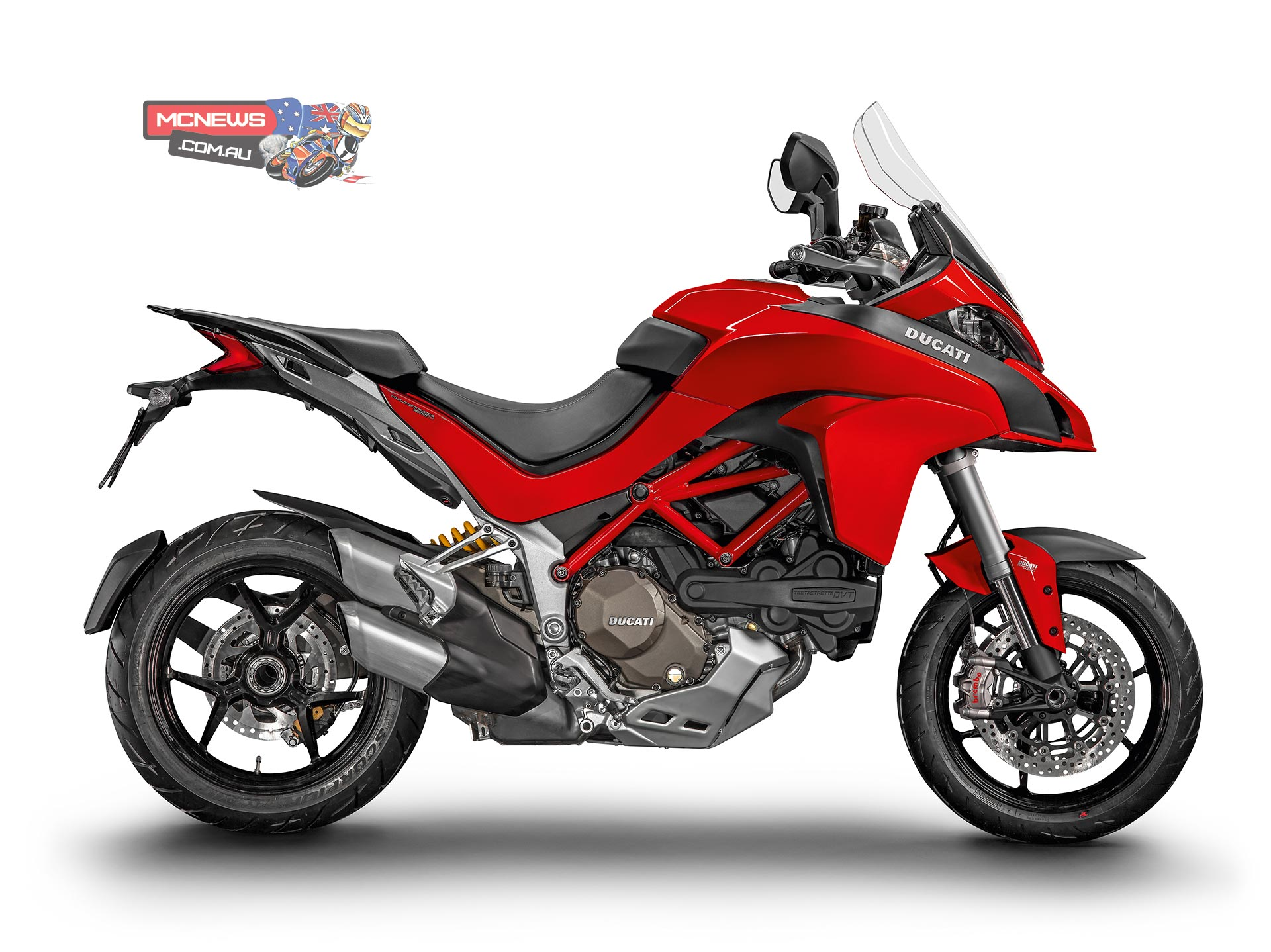 It's also a World Première for the new generation of Multistrada 1200 bikes, featuring the latest Ducati Testastretta DVT (Desmodromic Variable Timing) engine. In what is a first for the motorcycle industry, the DVT engine features a variable valve timing system with independent control of both the intake and exhaust camshafts.