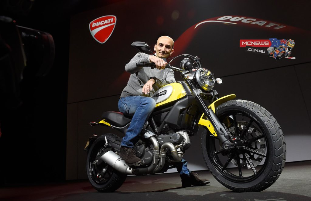 Following the launch of the Ducati Scrambler last month at Intermot, this new Ducati brand and its four innovative, high-appeal versions provided the perfect curtain-raiser at the Elfo Puccini Theatre in Milan, the venue for the Ducati 2015 World Première of the new 2015 models.