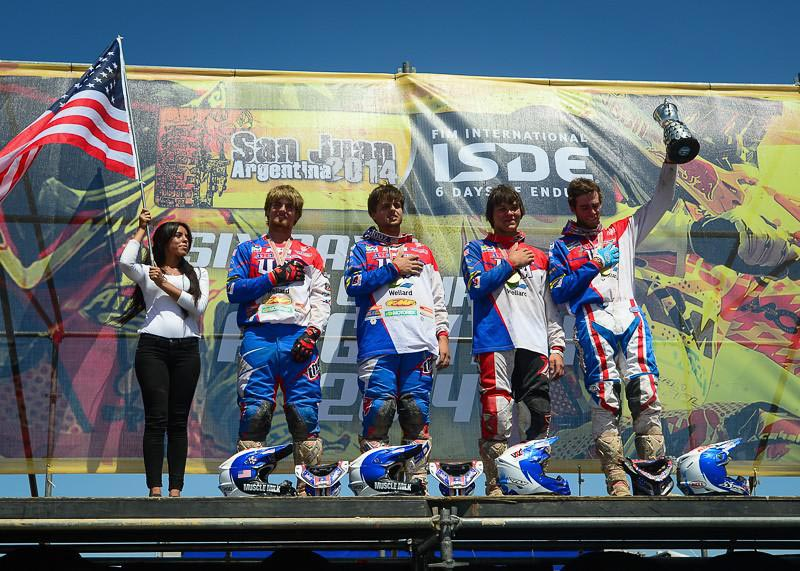 America won the Junior Trophy at ISDE 2014