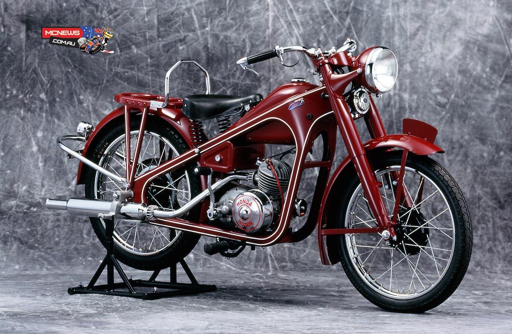 Honda began mass production of motorcycles in Japan in 1949 when it built the Honda 98cc Dream Type-D