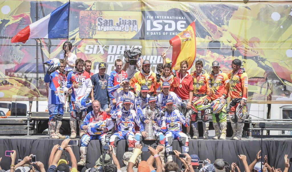 France won the Senior Trophy ISDE 2014