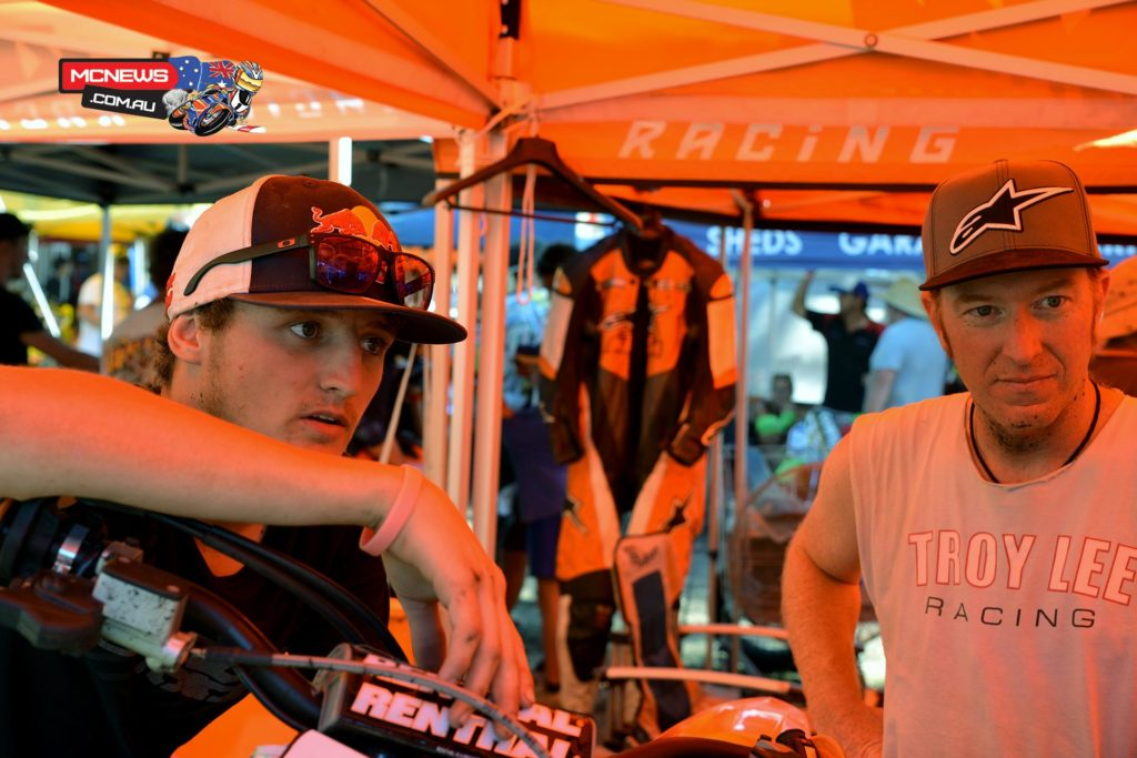 Jack Miller at the 2014 Bayliss Classic with Jason Crump