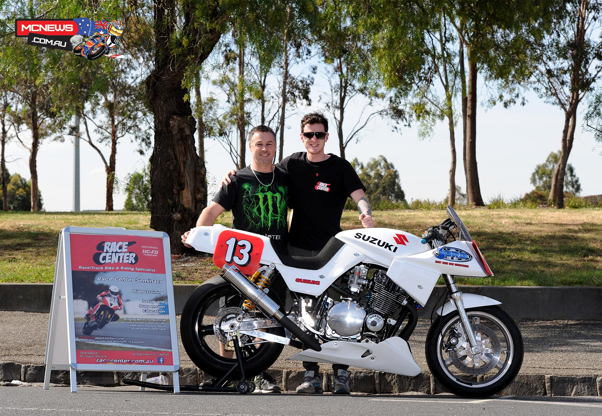 Metcher will have a shakedown test at Broadford tomorrow aboard Scott Owen's 1980 Suzuki Katana in preparation for the January 2015 Island classic.