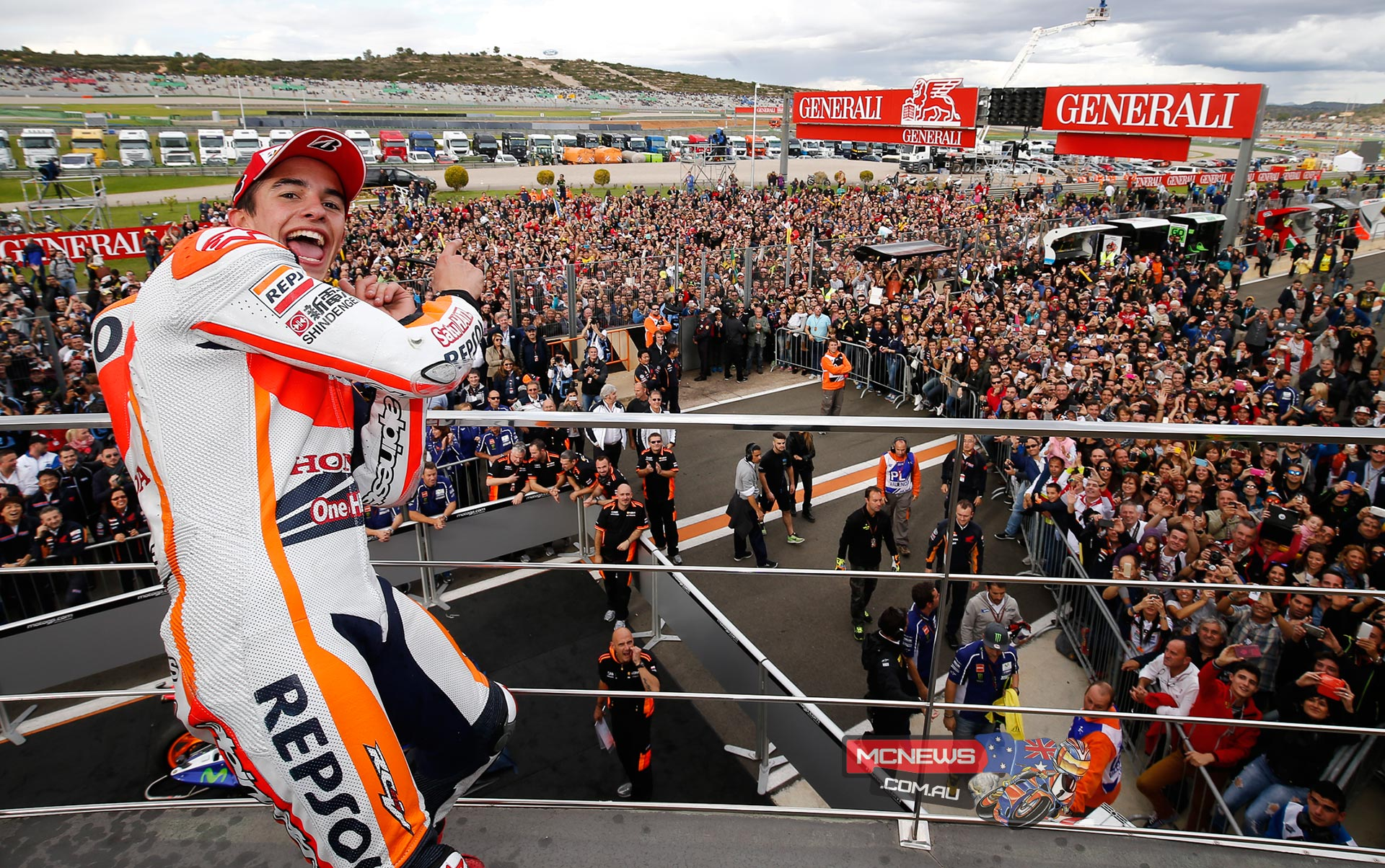 """Marc Marquez, Repsol Honda: race winner - """"I am so pleased, especially for my brother! It is a very happy day, even more than in Motegi when I was crowned champion. Today Alex took the Moto3 title that he deserved, and to cap it off I was able to close the year with a victory here in Valencia. I congratulate my brother for his season, because both him and Honda have done a great job this year! Now it's time to celebrate in the way that the occasion deserves, because it will be difficult to repeat another season like this. During today's race I was reminded of Aragon, because it was raining and there was a moment in which I considered whether or not to change the bike. In the end we stayed calm and today we were successful with our strategy. It was an ordeal which I enjoyed but suffered a bit at times! Thanks to the whole team for all their efforts this season!"""""""