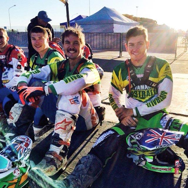 Team Australia ISDE 2014 members Matt Phillips, Toby Price and Josh Strang