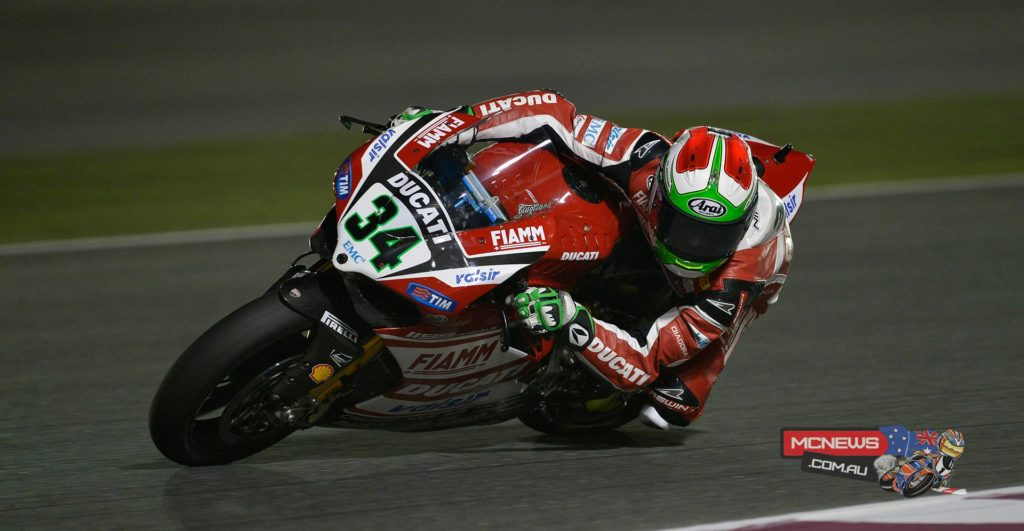 After missing the second session because of a technical problem Davide Giugliano (Ducati Superbike Team) wasted no time in improving, moving firstly to 8th, then 6th before unleashing the fastest time of the day to head into tomorrow's Superpole as the quickest rider.