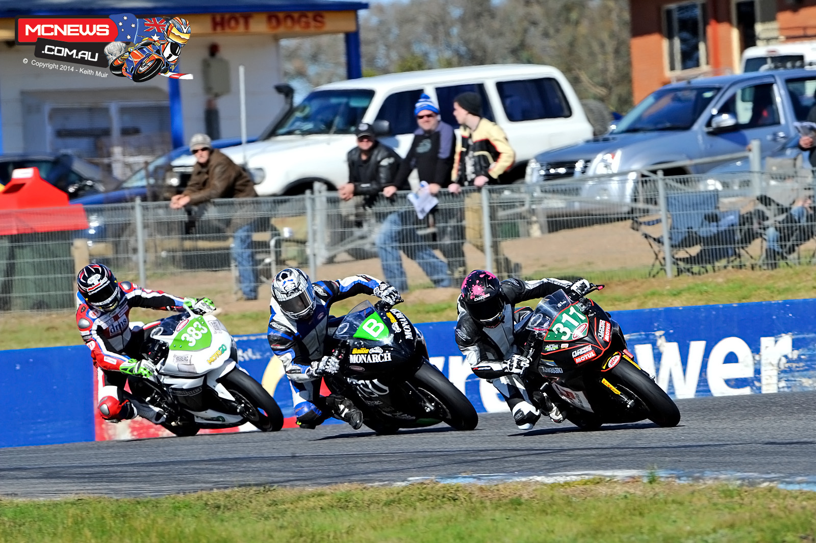Brandon Demmery leads Bailee Perriton and Kyle Buckley at Winton