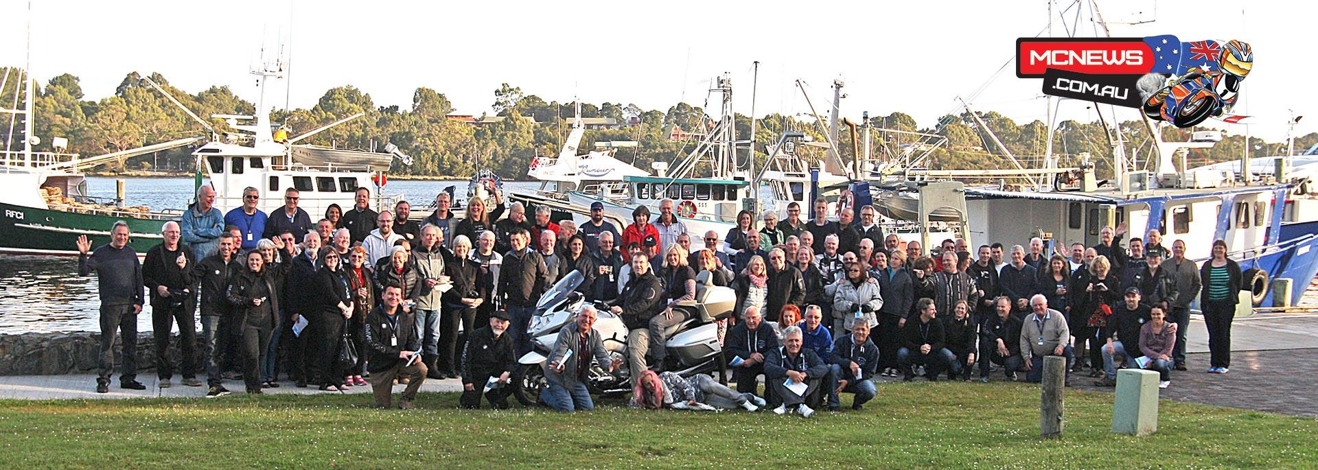 BMW TS Safari crew at Strahan