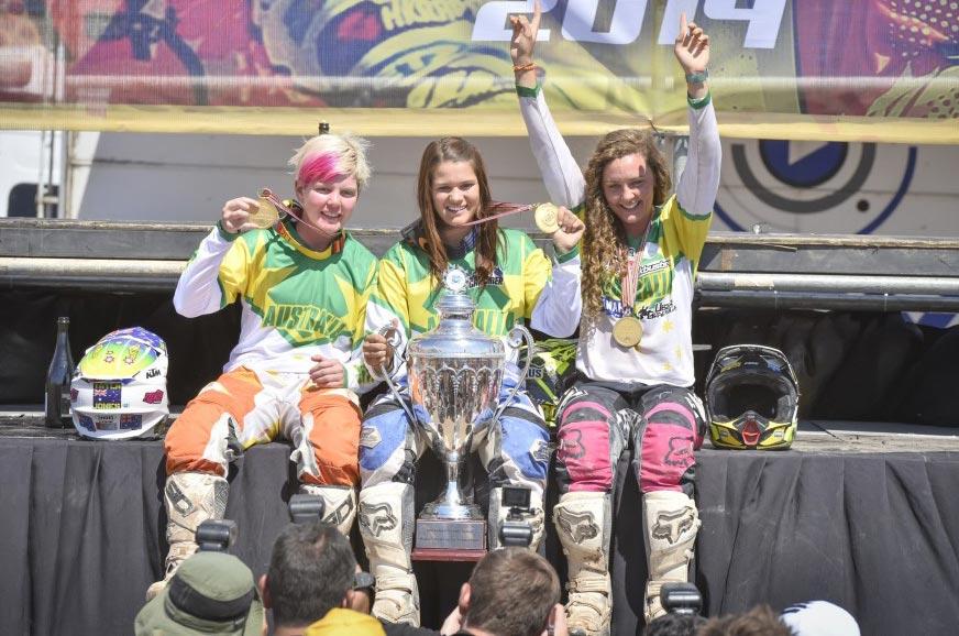 Team Australia Girls ISDE 2014