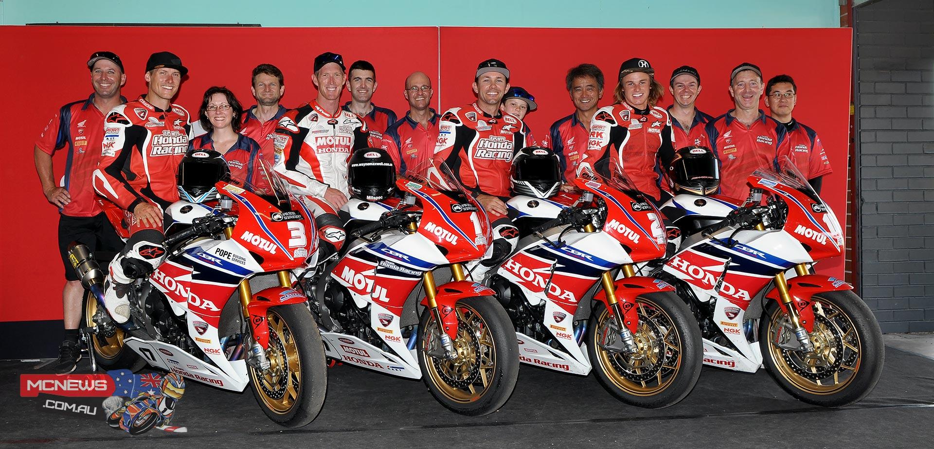 Team Honda 1-2-3-5 in 2014 Swann Australasian Superbike Championship