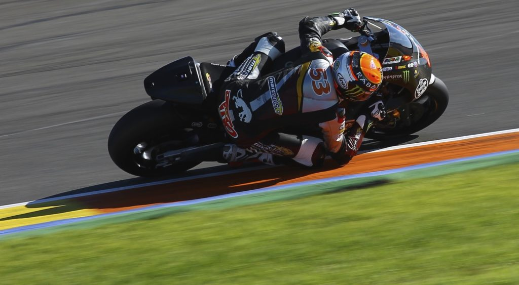 """Tito Rabat - 1st - 1'34.844 - """"We've had two really productive days here at Valencia and my feeling with the 2015 Kalex is really good. We have tested a lot of things again today, but I've also had to adapt slightly my riding style to get more from the bike, and that's worked well here too. My pace was good, my rhythm was good and my lap time was good, so I'm happy. Now we head to Almeria, where we will continue working to find further improvements."""""""