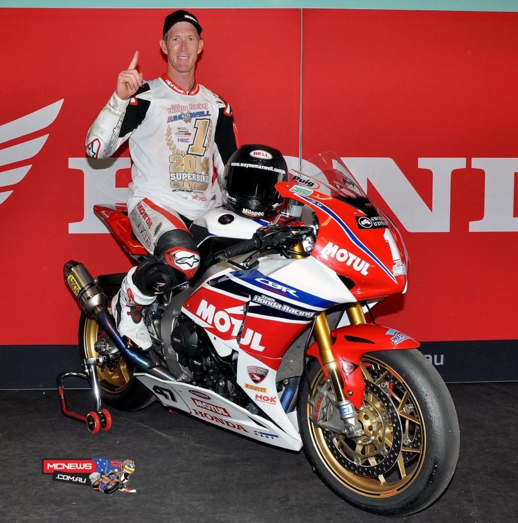 Wayne Maxwell takes the 2014 Swann Australasian Superbike Champion #1 plate to Yamaha for season 2015