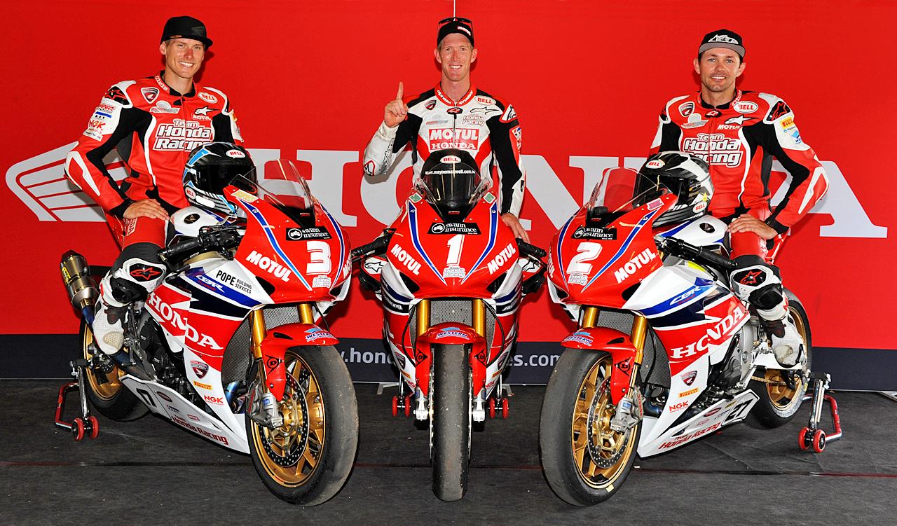 Team Honda - Australasian Superbike Championship 1-2-3
