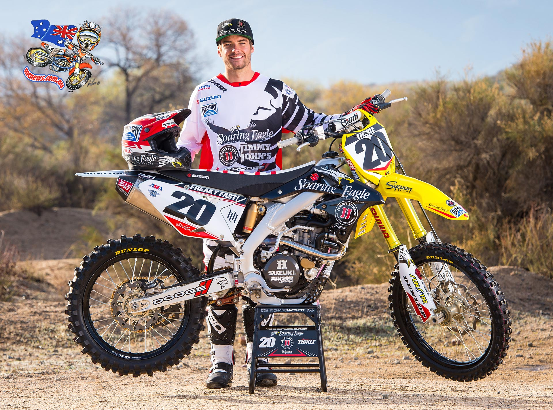 Broc Tickle joins Roczen at RCH Suzuki