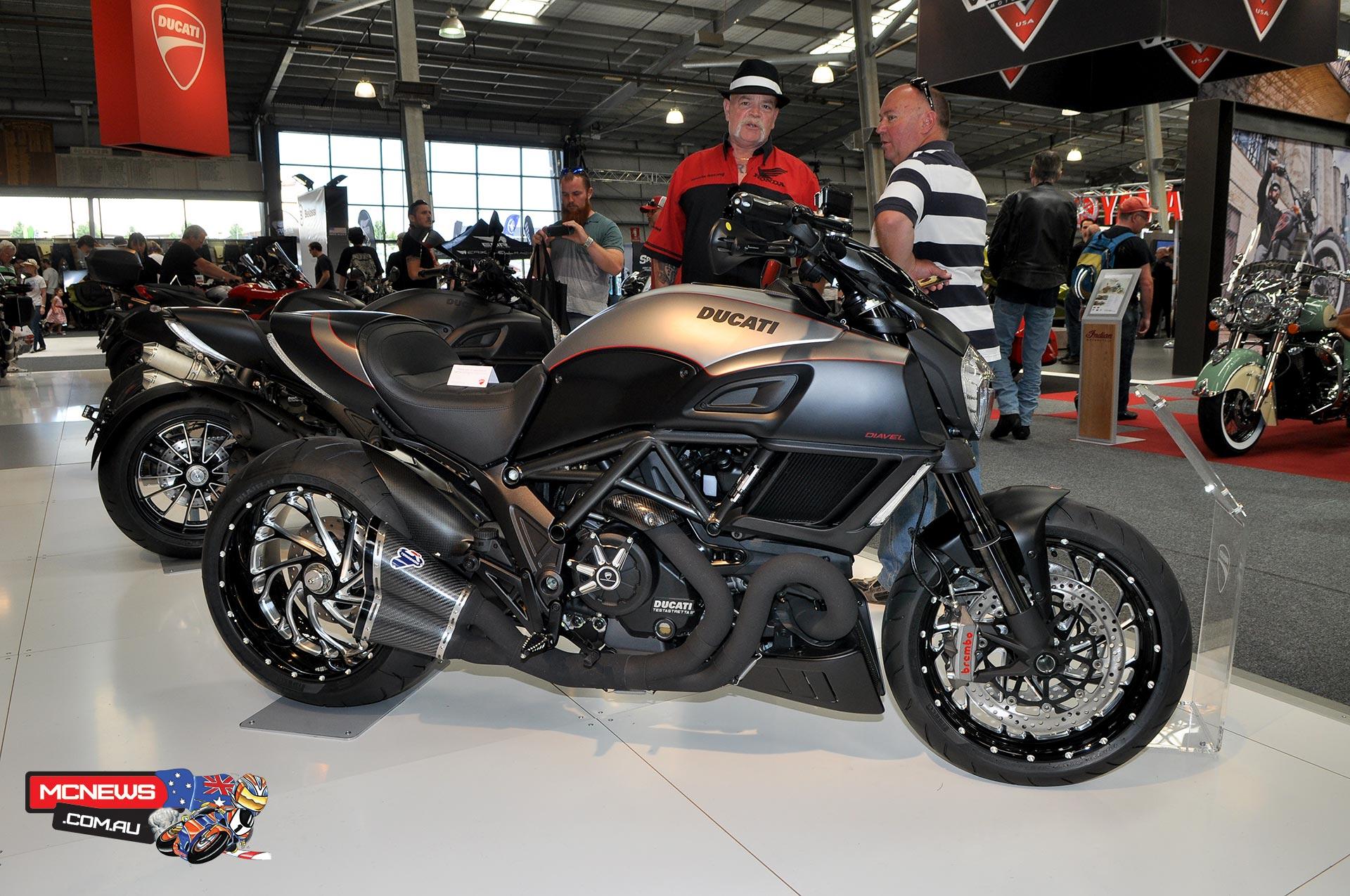 Ducati on display at Moto Expo