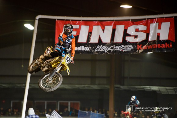 Former enduro rider Ricky Dietrich finished second at round six of the Canadian Arenacross Series