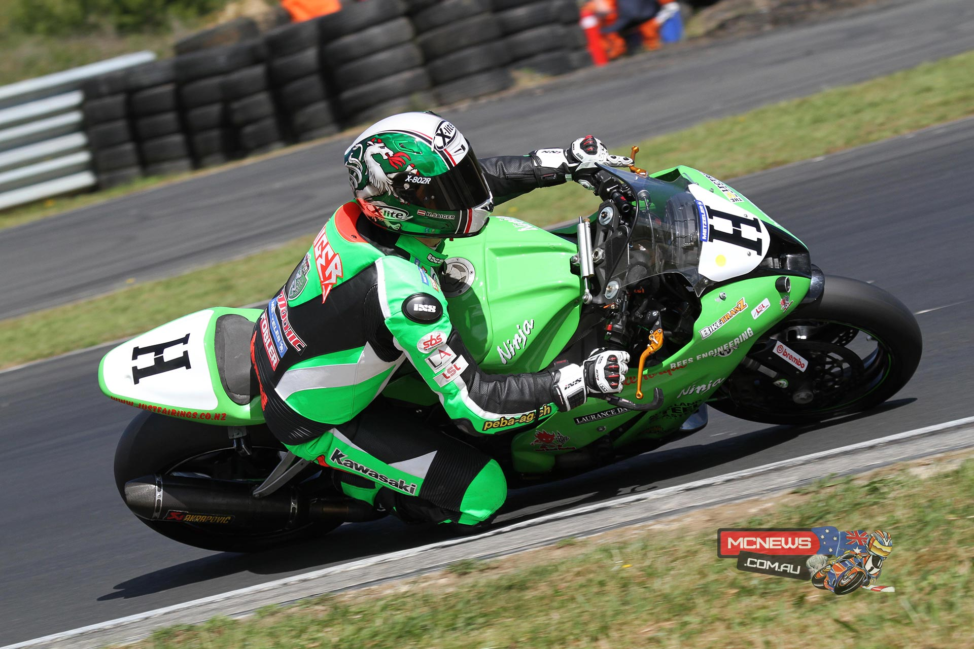 Horst Saiger in winning form on his Kawasaki ZX-10R