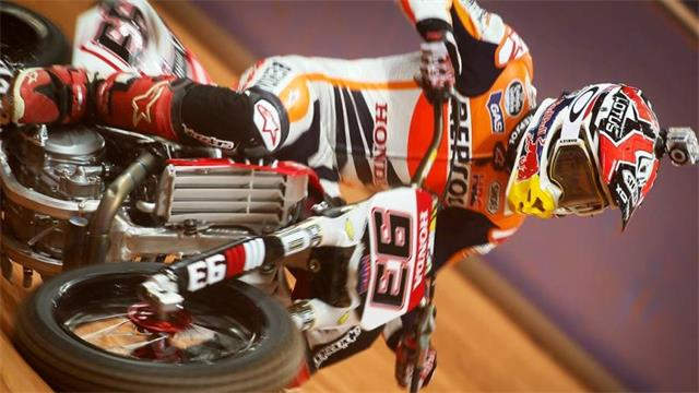 Marc Marquez in action at Superprestigio 2014