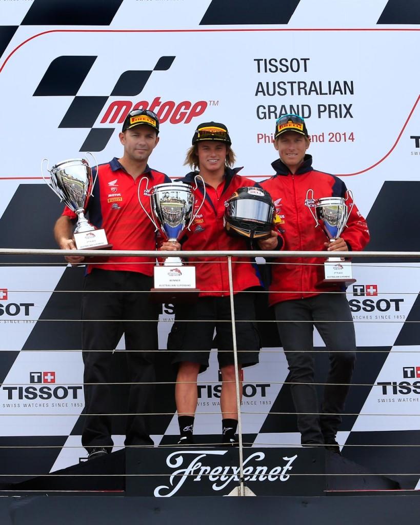 Phillip Island Championship Podium Team Honda
