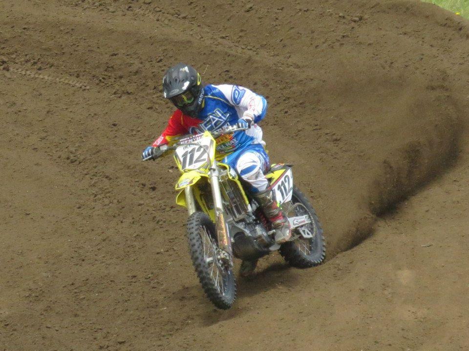 Rhys Carter took ou the MX1 class at the Summercross