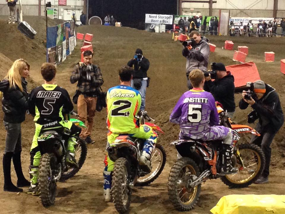 Ross Johnson continues to lead the Canadian Arenacross Championship